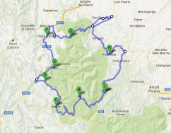 Cartina Completa Sibillini Bike Tour