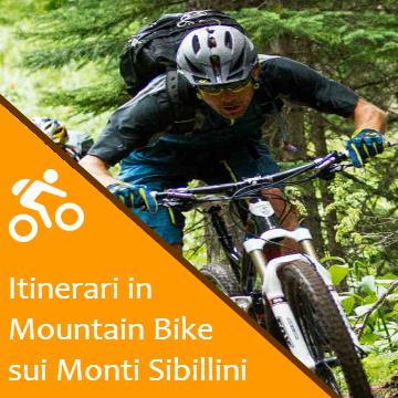 Tracciati e Percorsi Mountain Bike sui Monti Sibillini