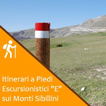 """Sentieri Escursionistici """"E"""" sui Monti Sibillini"""