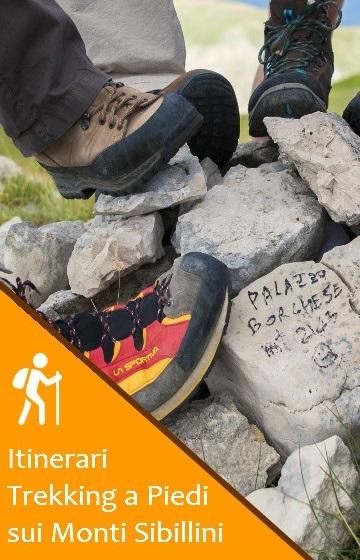 Itinerari Trekking e Percorsi sui Monti Sibillini